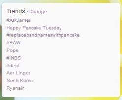 Pancake Tuesday Trends on Twitter